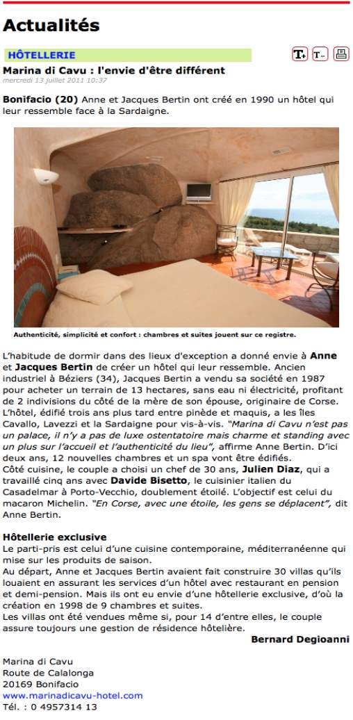 article journal hotellerie restauration