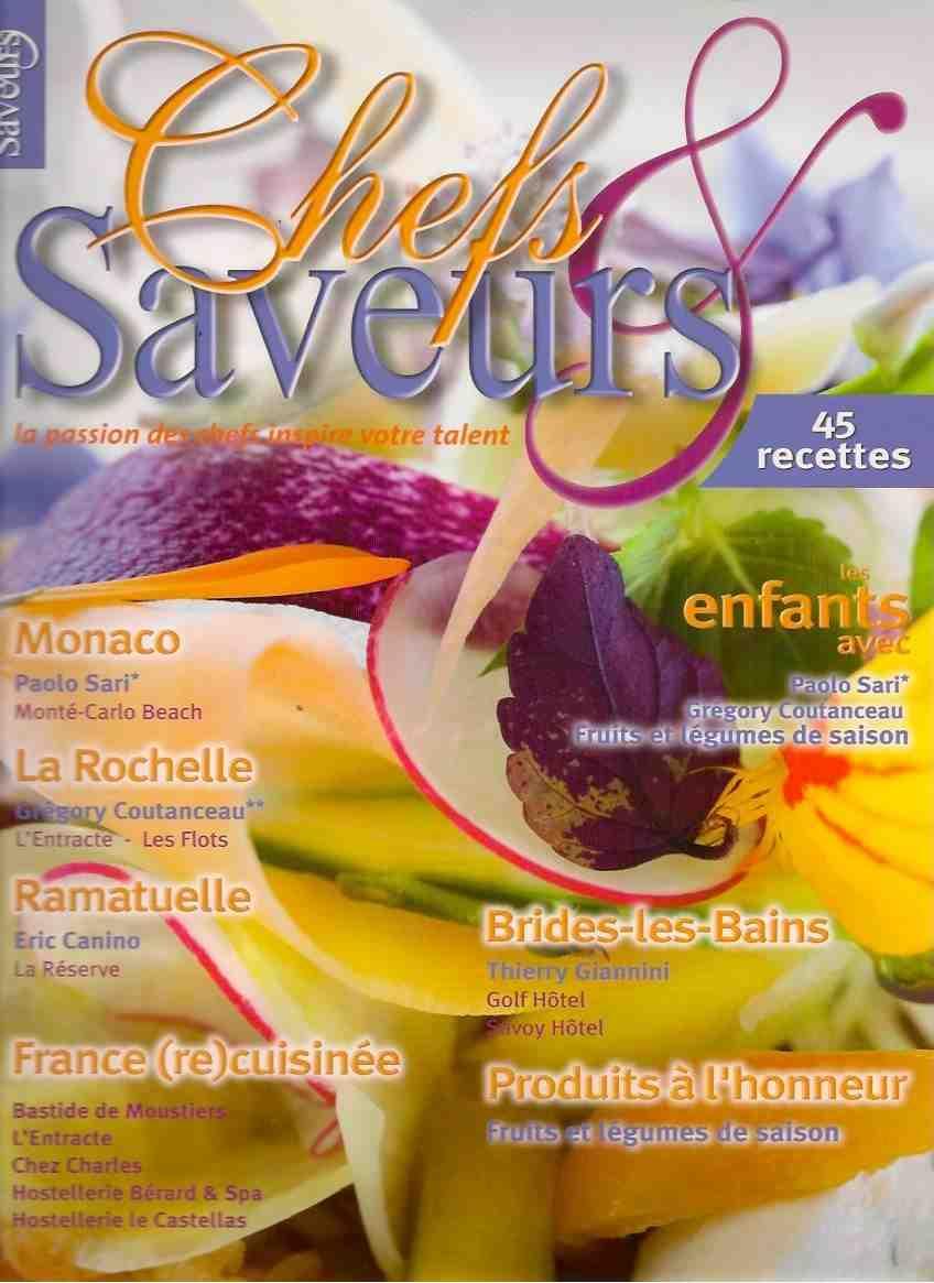 couverture du magazine chefs et saveur