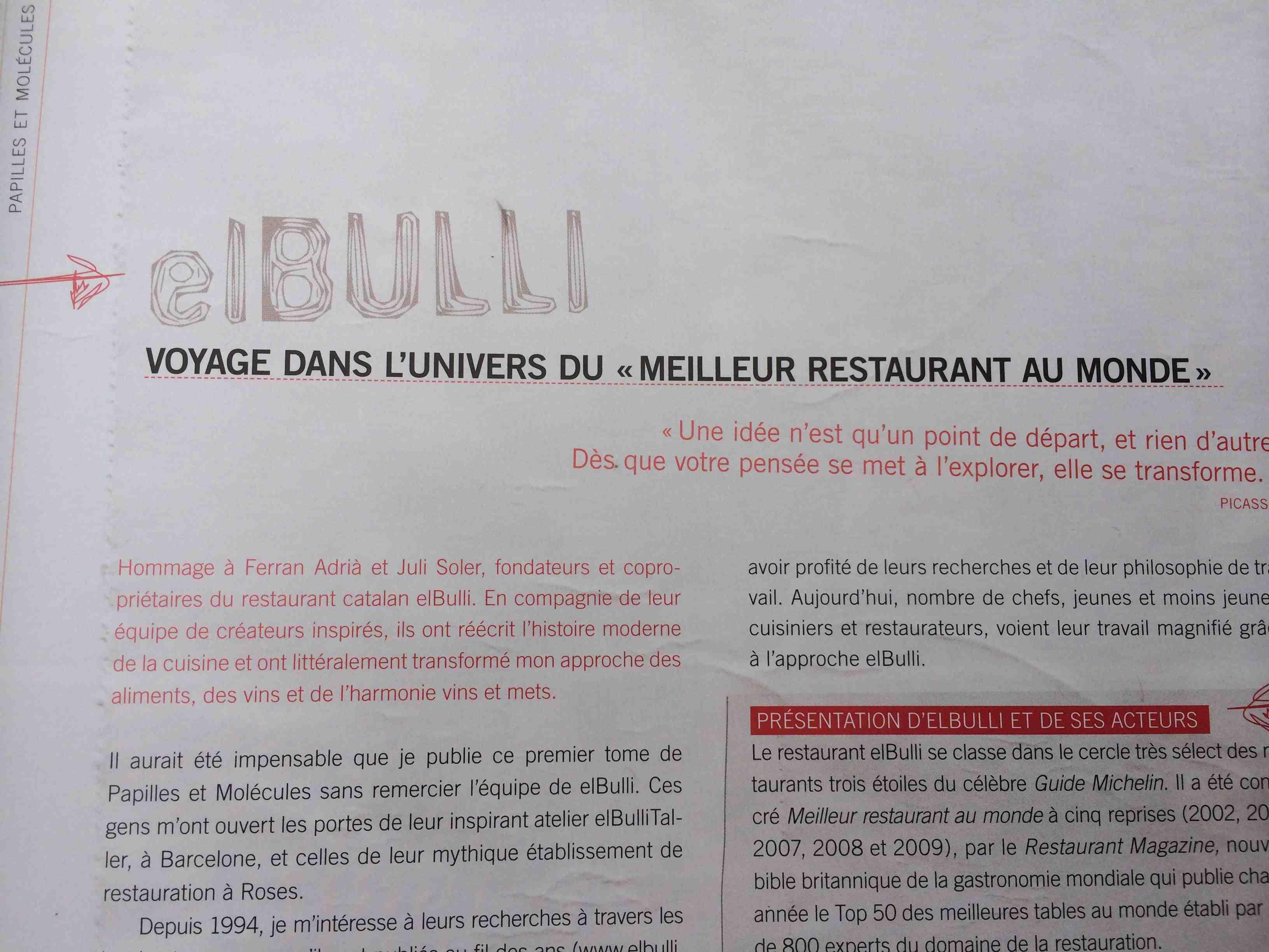 Restaurant elBulli