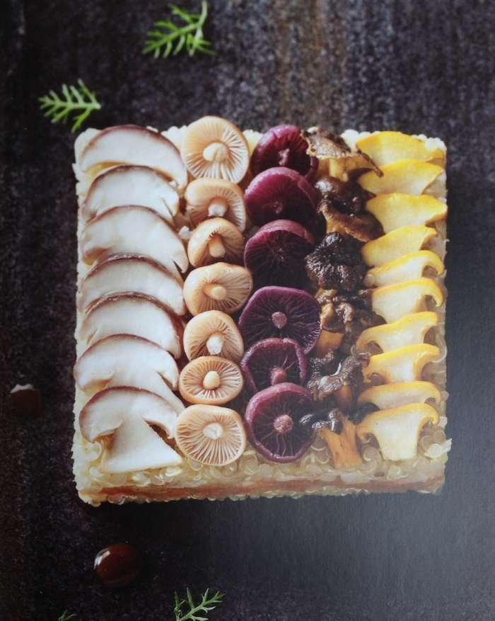 Gâteau de céréales aux champignons des bois