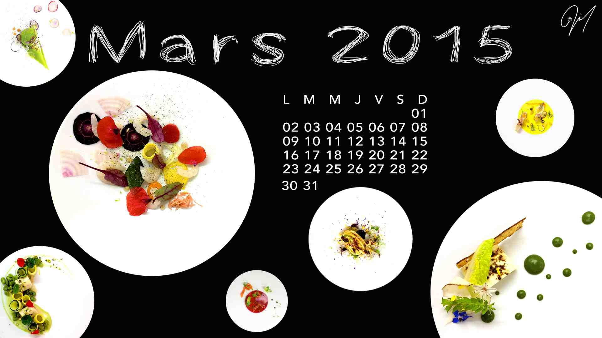 Fond d'Écran | Calendrier Gourmand | Mars 2015