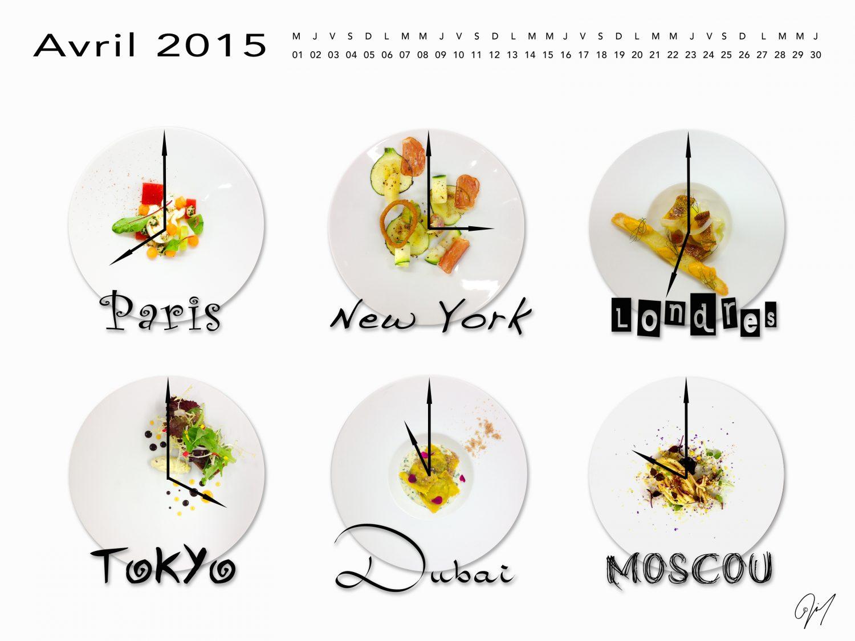 Fond d'Écran | Calendrier Gourmand | Avril 2015
