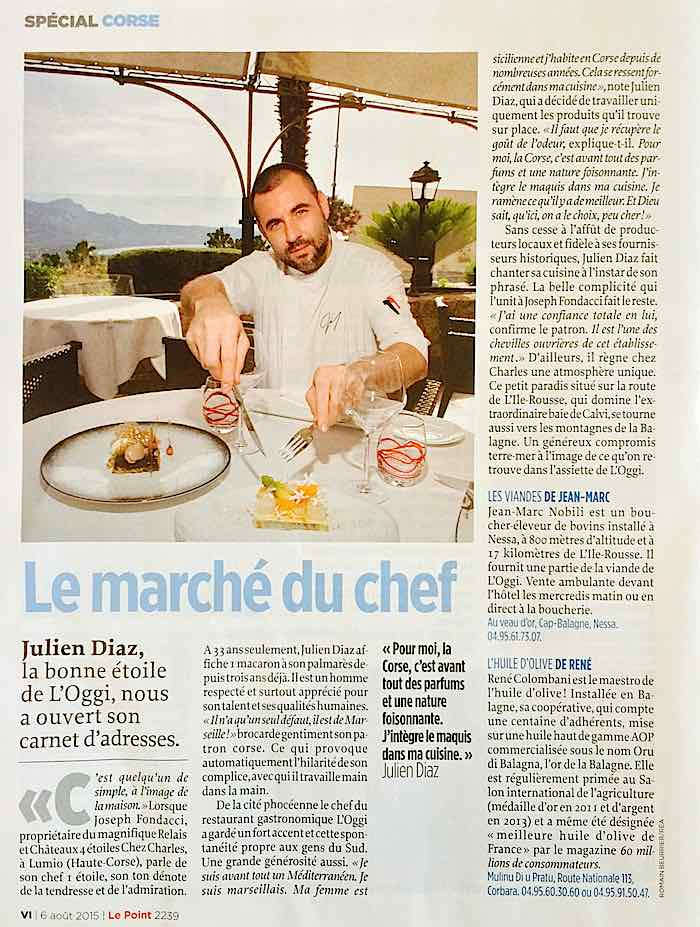 Guide Gourmand Corse Julien Diaz